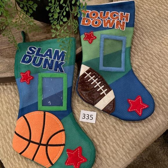 Other - NEW!! 2 Christmas Stockings! Football & Basketball